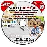 """""""HOME 3D"""" Haus-und Wohnungsplaner 3D Software Premium 2018 inklusive BLENDER und LIBRE-CAD Bild"""
