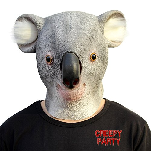 Tier Halloween Kostüme Wald (CreepyParty Deluxe Neuheit-Halloween-Kostüm-Party-Latex-Tierkopf-Schablone Masken Der)