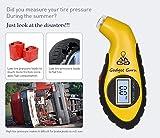 Gadget Guru Automotive Tire Pressure Gauge Meter Manometer Barometers Tester Digital LCD Air Tire Test For Auto Car Motorcycle Wheel
