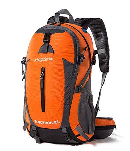 Outdoor Sport Rucksack 40L Wasserdicht Wandern Reisen Bergsteigen Tasche Orange