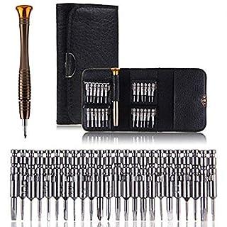 Vakki Tournevis de Précision Mini, Kit de Tournevis 25 pièces Outils de Réparation pour Portable, Laptop, Montre, Jouets, Lunettes, Bijoux etc.