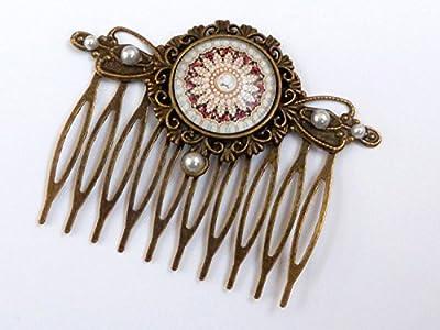 Peigne avec fleur de perle, style antique, accessoires de cheveux de mariage