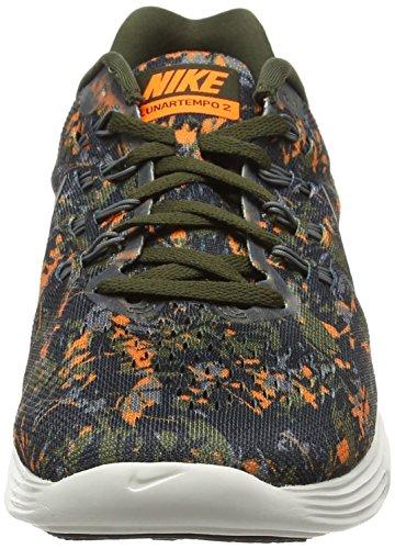Nike Lunar Tempo 2 Print, Chaussures de Running Compétition Homme Vert (300)