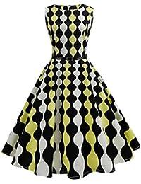3d9ad4493023 Abito Anni 50 Donna al Ginocchio Vintage Audrey Hepburn Rockabilly 1950  Abiti da Sera Eleganti Smanicato