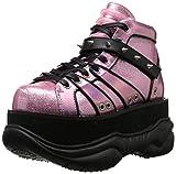 Nettuno 100 scintillanti scarpe da ginnastica unisex piattaforma con punte rosa - (UE 40 = US 8) - Demonia