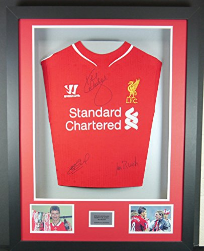 Dalglish-Rush-and-Gerrard-Liverpool-Signed-Shirt-3D-Framed-Display-with-COA