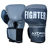 #4: Hitman Fighter Grey Boxing Gloves Size-Large