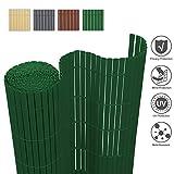 wolketon Canniccio PVC Recinzione paravista per Giardino Balcone Terrazza Cortile/Privacy ombreggiatura/Verde 160x500cm/ Rotolo recinto Decorativo