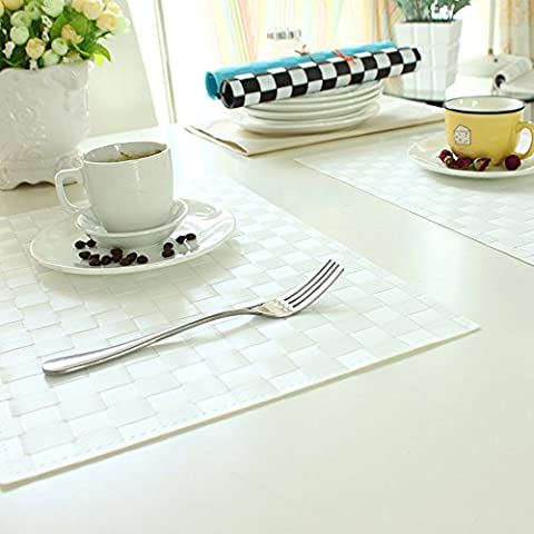 WFCoasters Insulation coasters placemats table mats and waterproof oil Continental insulation against hot bowl of high-grade plastic cushion pad (optional multi-color, 30 * 45cm Single Pack) ( Color : B