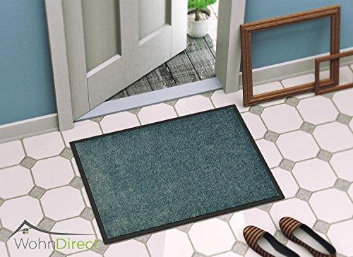 Fußmatte mit Rand – Fussmatte Innen rutschfest und waschbar – Schmutzfangmatte / Fussabtreter / Fussabstreifer 60x90cm
