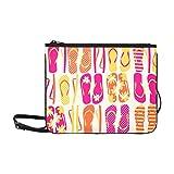 Flip Flops colorate Borsa a tracolla a tracolla sottile in nylon di alta qualità personalizzata