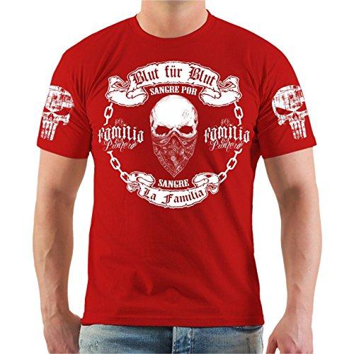Life Is Pain Männer und Herren T-Shirt La Familia Blut für Blut (mit Rückendruck) Größe S - 8XL