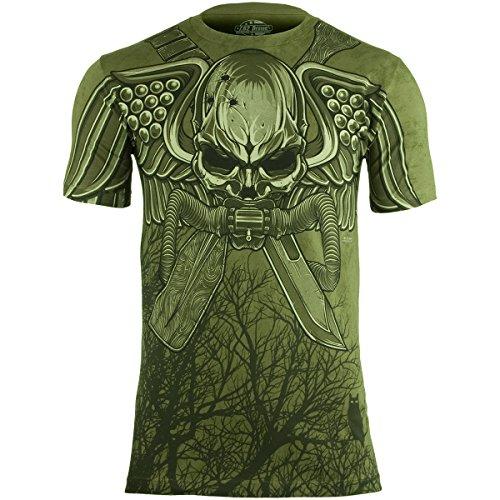 7.62 Design Herren USMC Recon Swift Silent Deadly T-Shirt Military Grün Größe XXL -