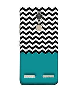 PrintVisa Designer Back Case Cover for Lenovo K6 Power (Pattern design blue checks boxes)