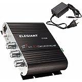 ELEGIANT 200 W 2.1 CH Mini Amplificador Estéreo HIFI para Coche MP3, Radio, Amplificador para Coche y Moto, CD, DVD(Con fuente de Alimentación )