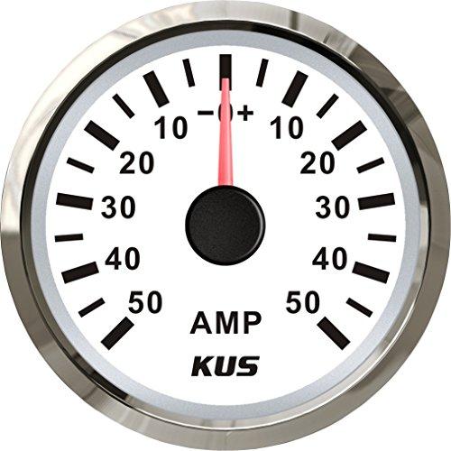 Kus Ampèremètre Amp Gauge 50 A courant avec unité de Pick-up 52 mm (5,1 cm) 12/24 V