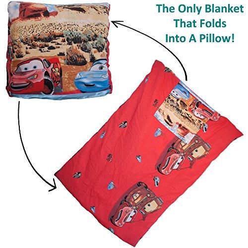 Dazoriginal cuscino coperta per bambini regalo Set - tappetino per bambini - viaggio coperta e cuscino - Childrens coperte attività Floormat 100% cotone - Cars