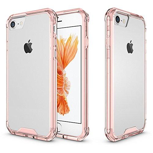 iProtect iPhone 7 e iPhone 8 Clear Crystal Soft Case custodia in TPU 0,3mm trasparente Clear Softcase fucsia