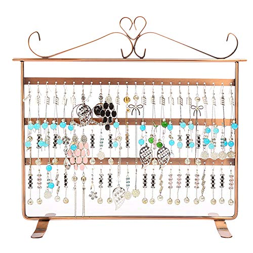 TMISHION 72 Hole Jewelry Hanger Display Stand for Earrings Necklace Bracelet Ring Watch