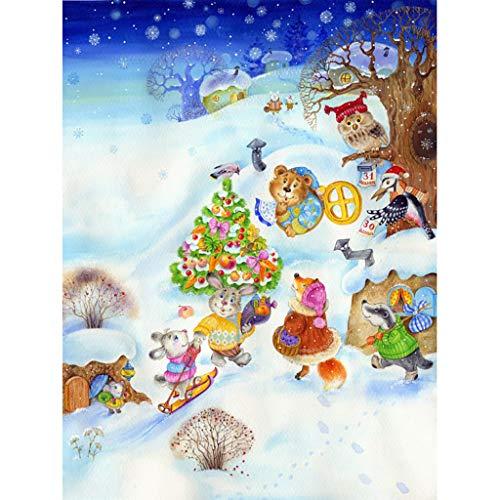 DEtrade 5D Stickerei Gemälde Strass Eingefügt DIY Kreuzstich Weihnachten Bohren Vollbohrer Diamant-Malerei (I) -