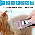 Rision 3 Speed Professional Pet Grooming Clipper Kit Low Noise Rechargeable Cordless Dog Hair Trimming Clippers Set for Dogs Cats and Other Animals Rision 3 Speed Professional Pet Grooming Clipper Kit Low Noise Rechargeable Cordless Dog Hair Trimming Clippers Set for Dogs Cats and Other Animals 51qLwbAQ 6L