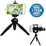 Drumstone 228 Mini Tripod Stand With Phone Clip Holder With 8X Zoom Telescope Mini Stand Compatible With Xiaomi, Lenovo, Apple, Samsung, Sony, Oppo, Gionee, Vivo Smartphones (One Year Warranty)