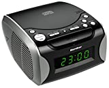 Karcher UR 1306 Uhrenradio (CD-Player, PLL-AM/FM-Radio, AUX-In, Weckfunktion, Snooze,...
