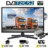 Reflexion LDD247 LED 23.6 Zoll TV DVB-S2 / C / T2 DVD, 24 Volt 12 Volt 230 Volt