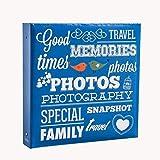 ARPAN, Raccoglitore ad Anelli per 500 Foto da 10 x 15 cm, Colore Blu, in Cartone, 34 x 4 x 33 cm