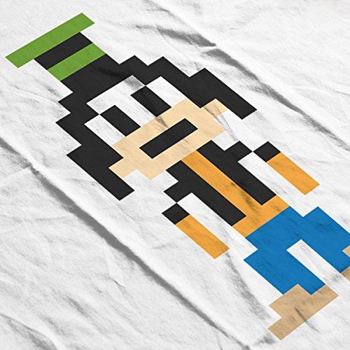 Goofy Pixel Character Women's Hooded Sweatshirt White
