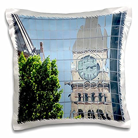 Danita Delimont - Clock Towers - Clock tower, Old City Hall, Ontario, Canada - CN08 CMI0046 - Cindy Miller Hopkins - 16x16 inch Pillow Case (pc_135349_1)