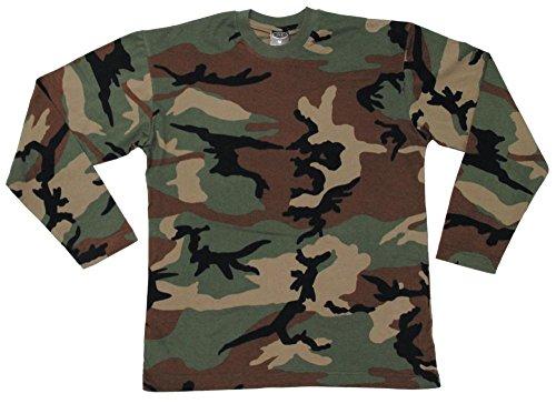 US Army Longsleve woodland S-XXL XL (Tarn T-shirt Baumwolle Woodland Army)