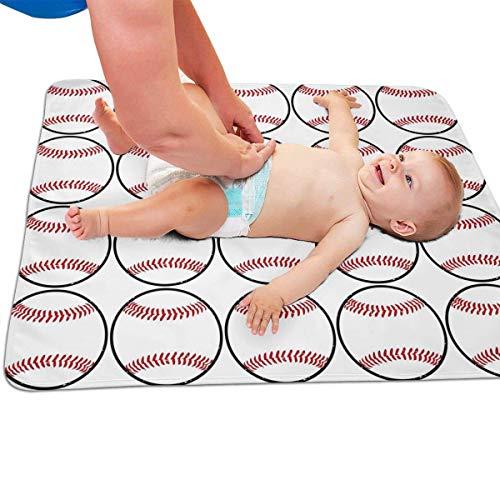 "Zcfhike Baby Portable Diaper Changing Pad Baseball Pattern Urinary Pad Baby Changing Mat 31.5"" x25.5''"