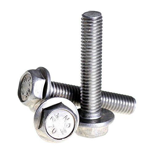 Bolt Base - Sechskant-Flanschschraube - 6 mm / M6 x 12 mm - A2 Edelstahl - DIN 6921 - 50 Stück (Bolt M6 12)