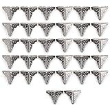 32PCS 25mm argento antico angolo Protector scatola di legno mobili tavolo angolo decorativo