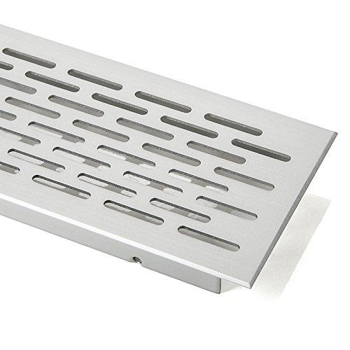 SO-TECH Griglia di Ventilazione Griglia Perforata Griglia di Aerazione Ovale - Alluminio (EV1) - 250 mm