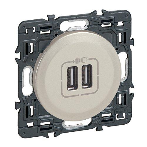 Legrand LEG99786 Céliane - Toma doble de cargador USB (con embellecedor en...
