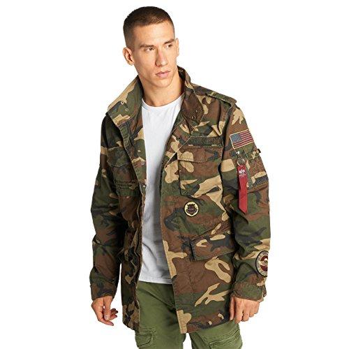 Preisvergleich Produktbild Alpha Industries Herren Jacken / Übergangsjacke Huntington Patch camouflage 2XL
