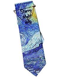 El Diseo De Casa Van Gogh Star Textile Printing Corbata