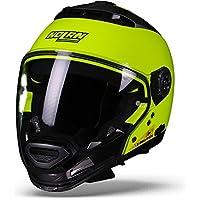 Nolan N44 Evo hi-visibility casco de moto Modular Lexan N-Com amarillo neón