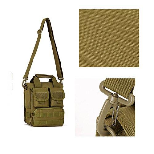 YAAGLE Outdoor militärisch Gepäck Damen und Herren Unisex multifunktional Schultertasche Armee Fans Tarnung Umhängetasche wasserdicht Handtasche Reisetasche-schwarz schwarz