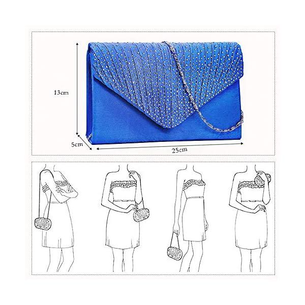 51qM yF7MZL. SS600  - BestoU Monedero de Embrague Clutch Bolso de Noche Bolso Bandolera Bolsos de Mujer Envelope Bolso de Mano de Mujer Bolso…