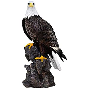 Unbekannt Sunny Toys 14649 Poly Weißkopfseeadler auf Fels Circa 50cm