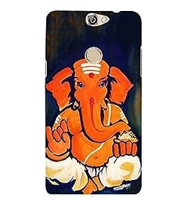 FUSON Shree Lord Ganesha Brahmin 3D Hard Polycarbonate Designer Back Case Cover for Coolpad Max