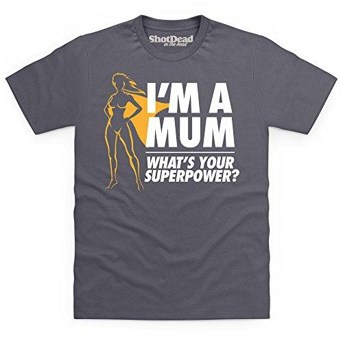 Mum Superpower T-Shirt, Herren Anthrazit