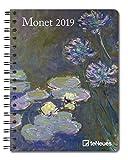 2019 Monet Deluxe Diary- teNeues - 16.5 x 21.6 cm
