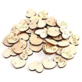 150pcs Rustic Wooden Small Love Heart Wedding Table Scatter Decor Crafts DIY Tool 15 x 11mm