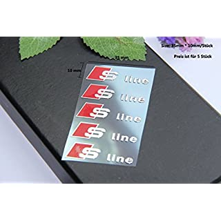 E336 5 stück S Line Emblem Zeichen Badge auto Abziehbild aufkleber 3D aus Nickel Car Sticker