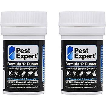 Carpet Moth Killer Smoke Bombs 3.5g (Twin Pack) - Formula 'P' Moth Killer from Pest Expert