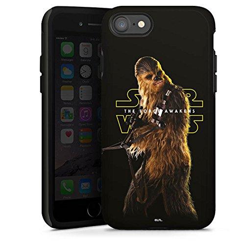 Apple iPhone 7 Silikon Hülle Case Schutzhülle Star Wars Merchandise Fanartikel Chewbacca Tough Case glänzend